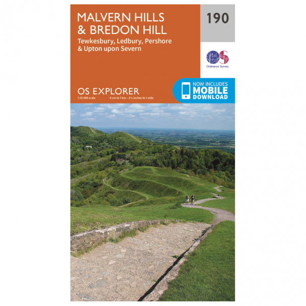 Ordnance Survey - Malvern Hills / Bredon Hill - Vaelluskartat