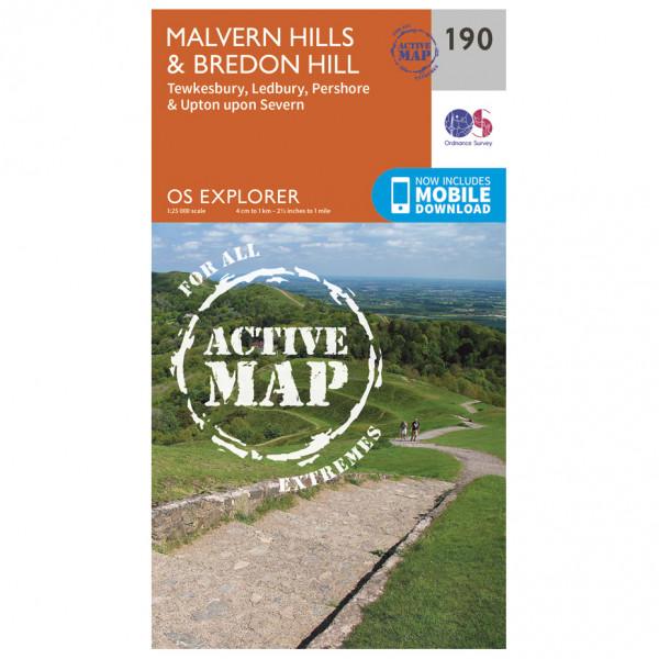 Ordnance Survey - Malvern Hills / Bredon Hill Waterproof - Hiking map