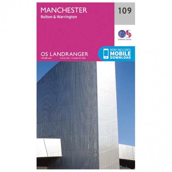 Ordnance Survey - Manchester - Vandrekort