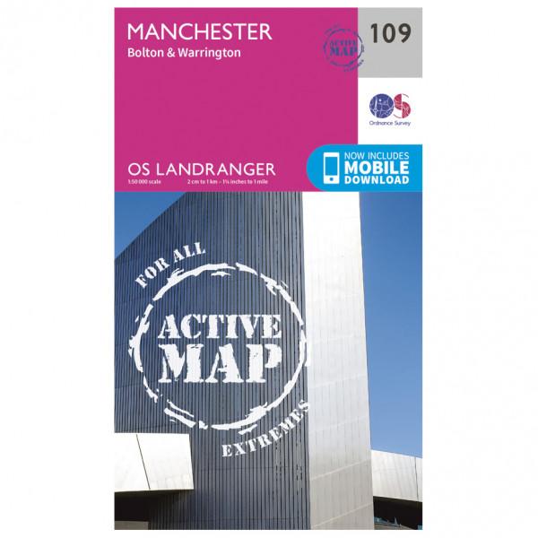 Ordnance Survey - Manchester / Bolton / Warrington Waterproof - Wandelkaart