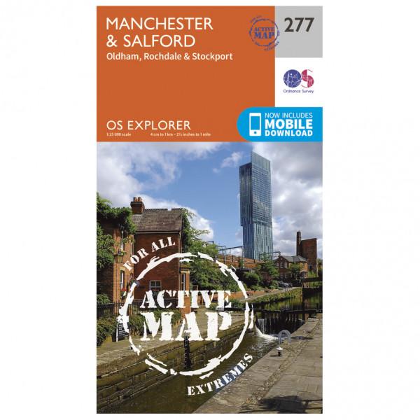 Ordnance Survey - Manchester / Salford / Oldham Waterproof - Vandringskartor