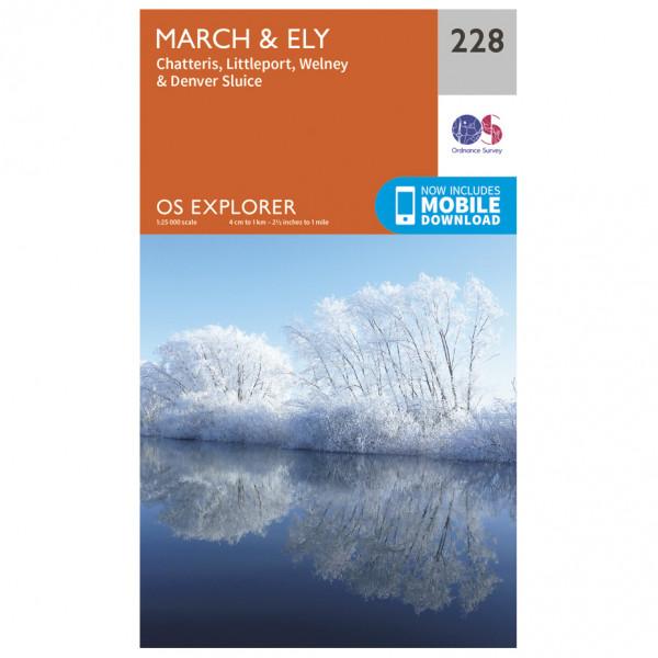 Ordnance Survey - March / Ely / Chatteris / Littleport - Vandrekort