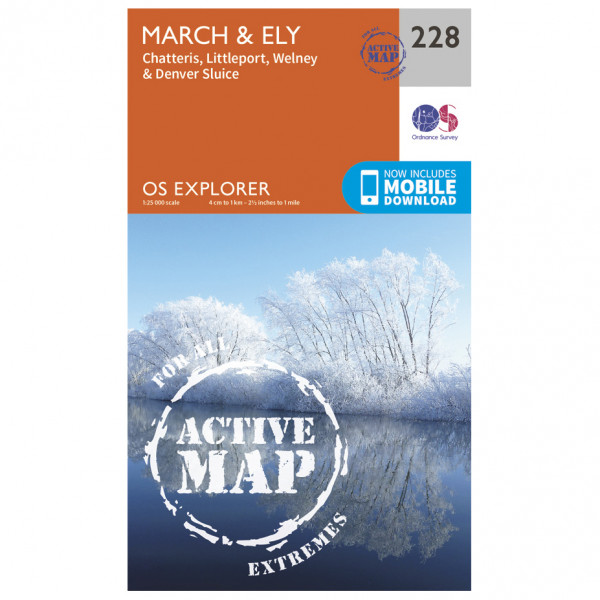 Ordnance Survey - March / Ely Waterproof - Hiking map