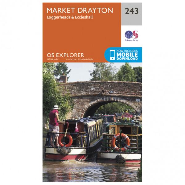 Ordnance Survey - Market Drayton - Vandrekort