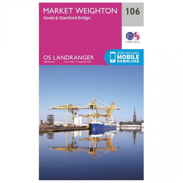 Ordnance Survey - Market Weighton - Vandrekort