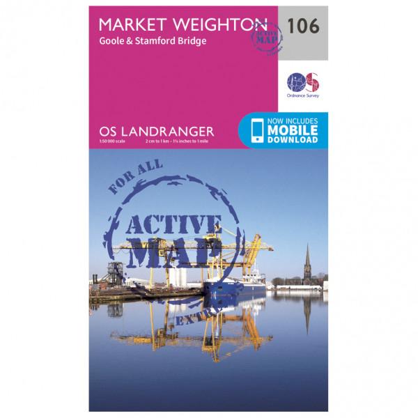 Ordnance Survey - Market Weighton / Goole Waterproof - Hiking map