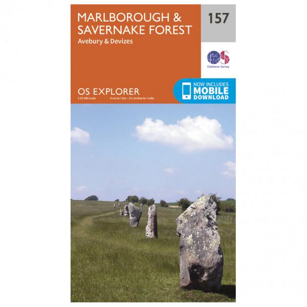 Ordnance Survey - Marlborough / Savernake Forest - Mapa de senderos