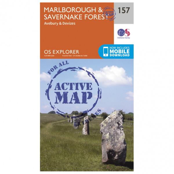 Ordnance Survey - Marlborough / Savernake Forest Waterproof - Hiking map
