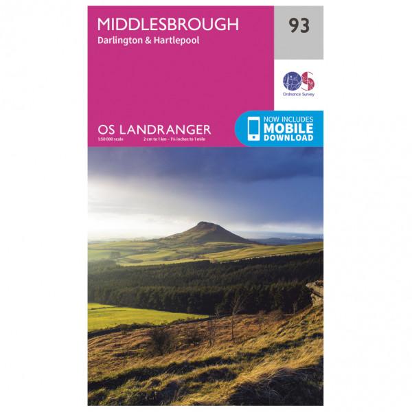 Ordnance Survey - Middlesbrough / Darlington - Vandringskartor