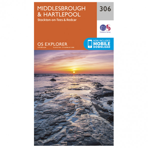 Ordnance Survey - Middlesbrough / Hartlepool - Vaelluskartat