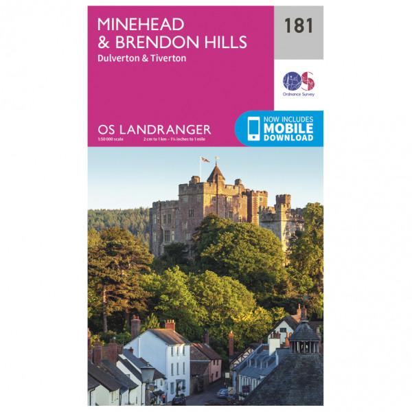 Ordnance Survey - Minehead / Brendon Hills - Hiking map