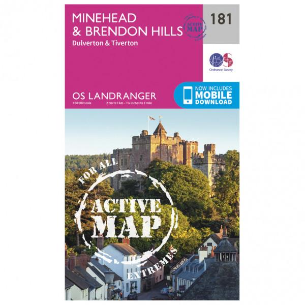 Ordnance Survey - Minehead / Brendon Hills Waterproof - Wandelkaarten