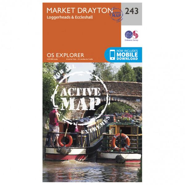 Ordnance Survey - Mmarket Drayton / Loggerheads / Eccleshall Waterproof - Vandrekort