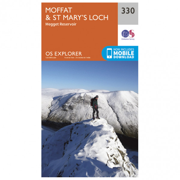 Ordnance Survey - Moffat / St Mary's Loch EXP330 - Wanderkarte