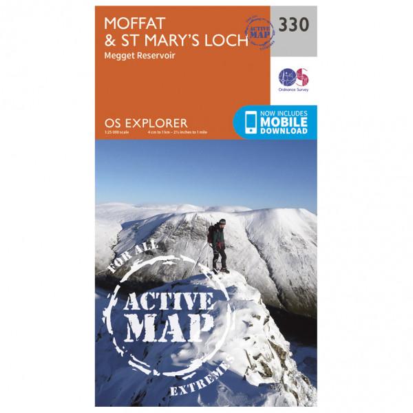 Ordnance Survey - Moffat / St Mary's Loch Waterproof - Vandrekort