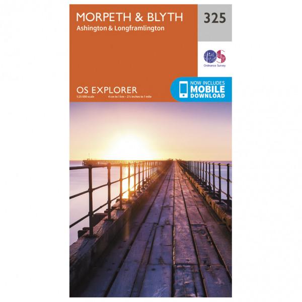 Ordnance Survey - Morpeth / Blyth - Vandringskartor