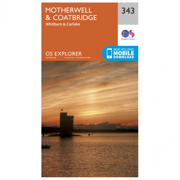 Ordnance Survey - Motherwell / Coatbridge - Hiking map