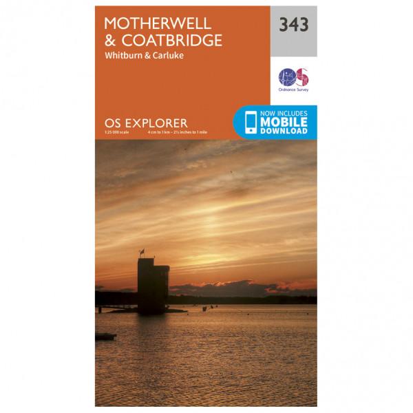 Ordnance Survey - Motherwell / Coatbridge - Vandrekort