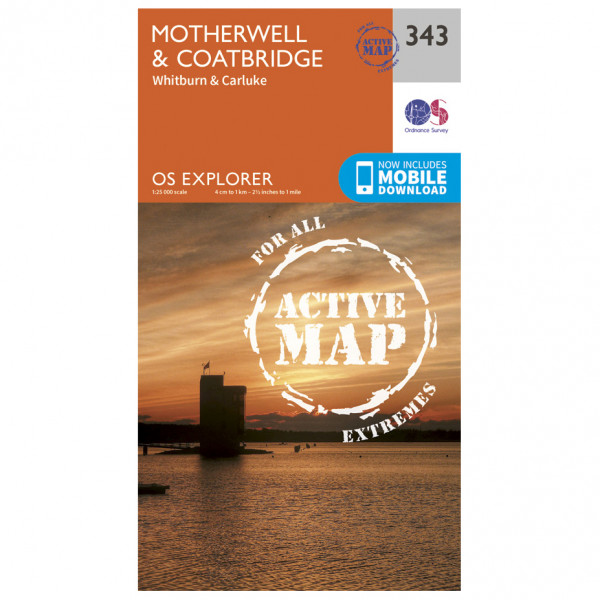 Ordnance Survey - Motherwell / Coatbridge Waterproof - Vandringskartor