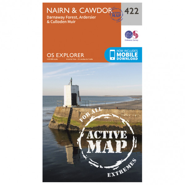 Ordnance Survey - Nairn / Wawdor Waterproof - Hiking map