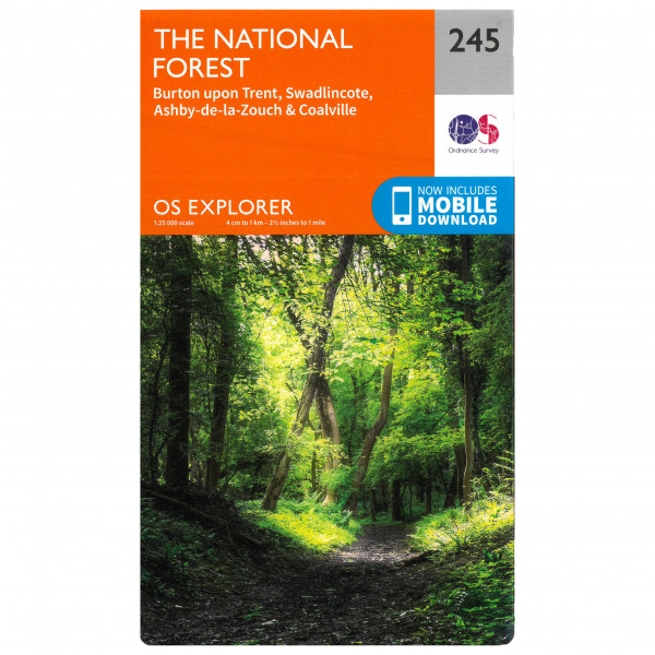 Ordnance Survey - National Forest - Vandrekort