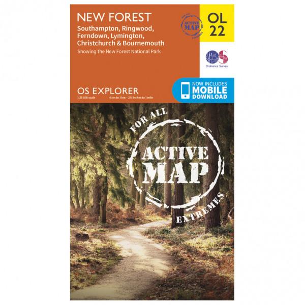 Ordnance Survey - New Forest / Southampton / Ringwood Waterproof - Hiking map