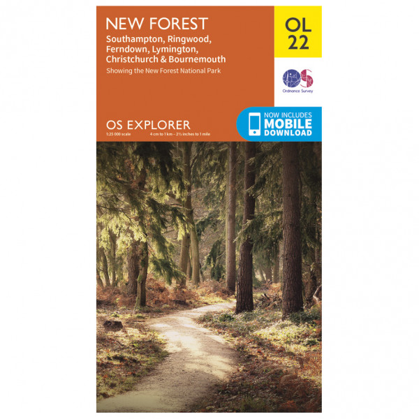 Ordnance Survey - New Forest Outdoor - Hiking map