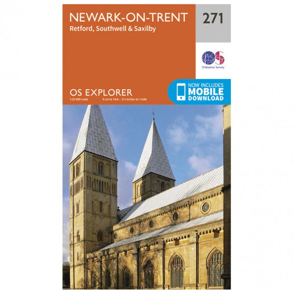 Ordnance Survey - Newark-On-Trent EXP271 - Wanderkarte