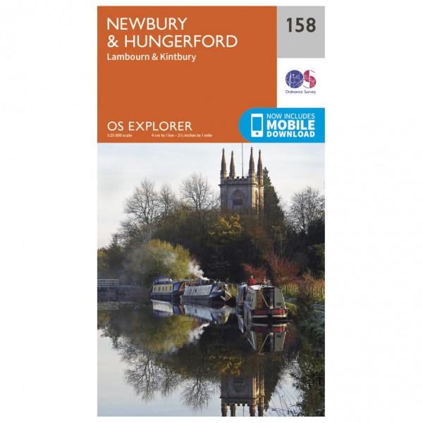 Ordnance Survey - Newbury / Hungerford - Wanderkarte