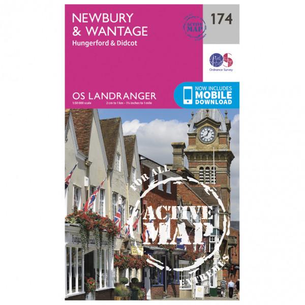 Ordnance Survey - Newbury / Wantage / Hungerford Waterproof - Vaelluskartat