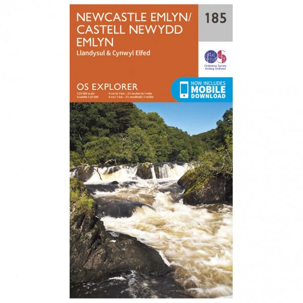 Ordnance Survey - Newcastle Emlyn - Vandrekort
