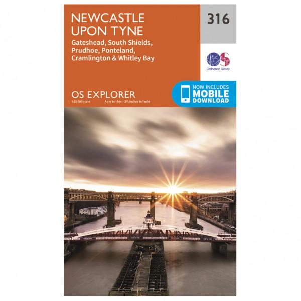 Ordnance Survey - Newcastle Upon Tyne Explorer - Wandelkaart