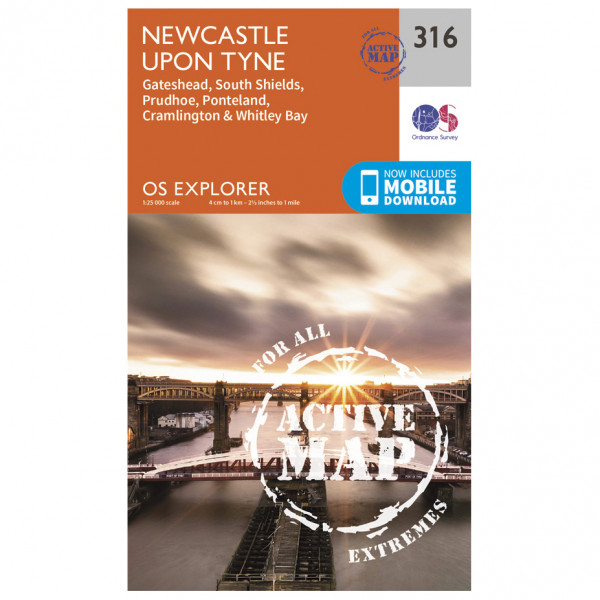 Ordnance Survey - Newcastle Upon Tyne Explorer Waterproof - Wandelkaart