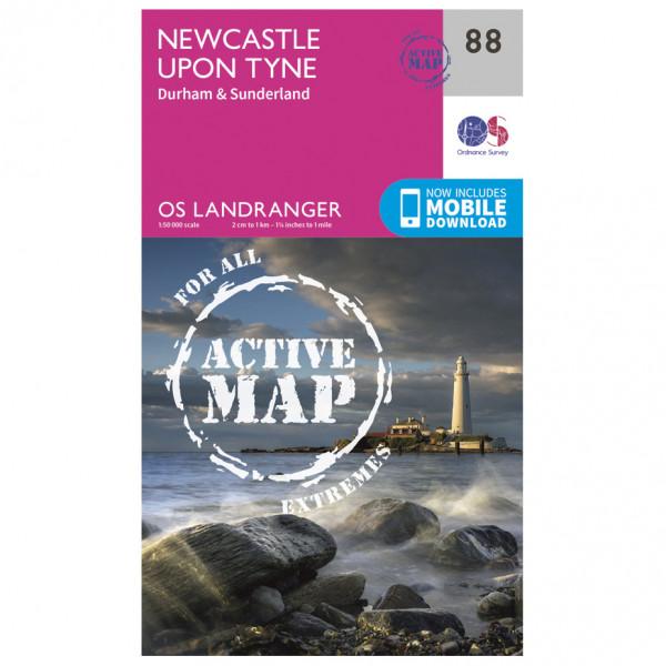 Ordnance Survey - Newcastle Upon Tyne Waterproof - Hiking map