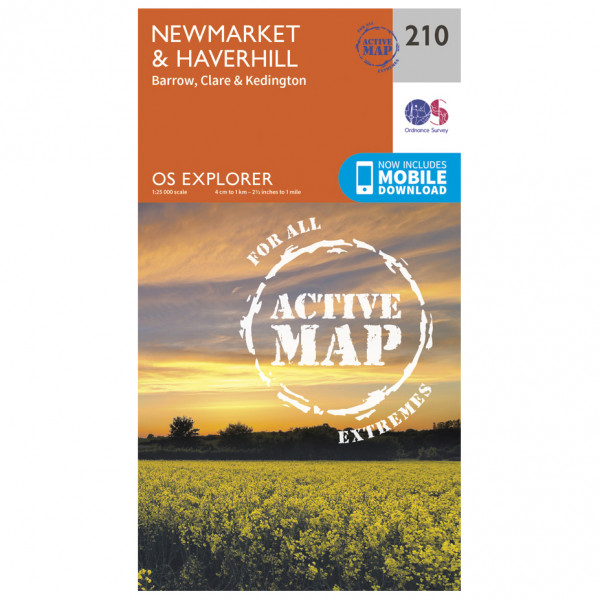 Ordnance Survey - Newmarket / Havehill / Barrow Waterproof - Wandelkaarten