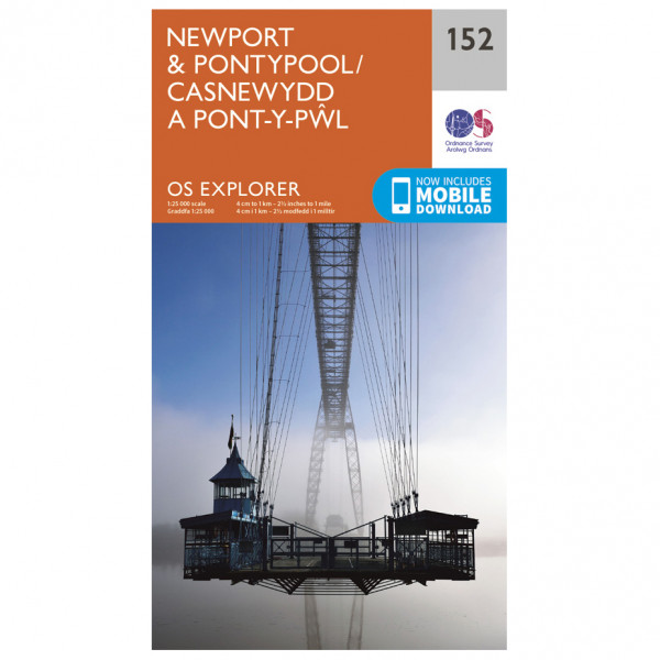Ordnance Survey - Newport / Pontypool - Hiking map