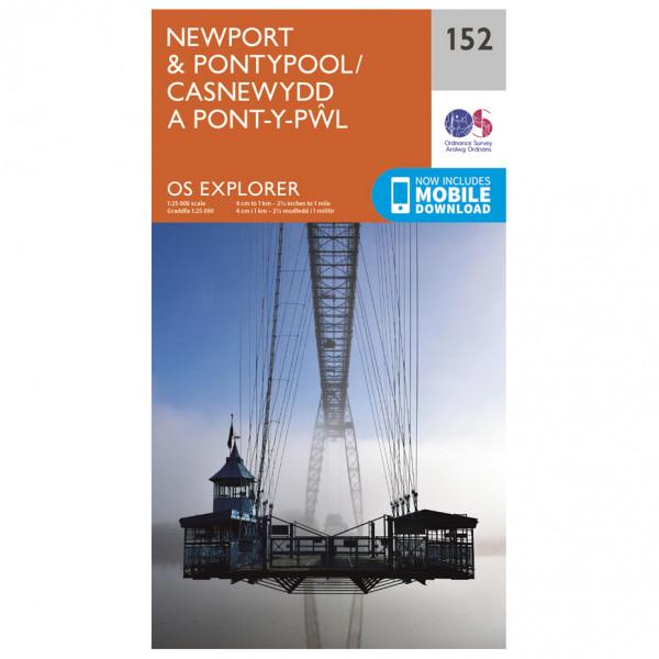 Ordnance Survey - Newport / Pontypool - Vandrekort
