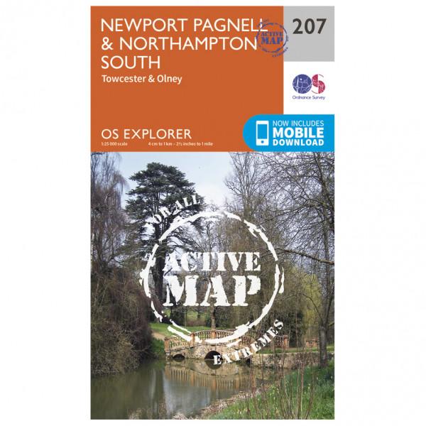 Ordnance Survey - Newport Pagnell / Northampton South Waterproof EXPL207 - Wanderkarte