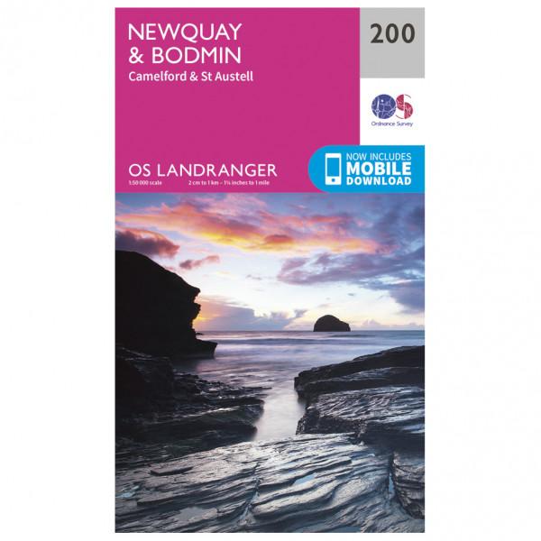 Ordnance Survey - Newquay / Bodmin L200 - Wanderkarte