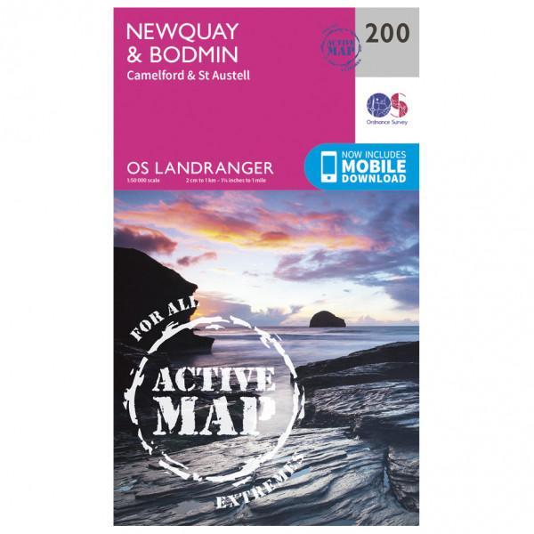 Ordnance Survey - Newquay / Bodmin / Camelford Waterproof LA200 - Wanderkarte