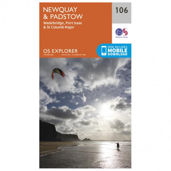 Ordnance Survey - Newquay / Padstow - Vaelluskartat