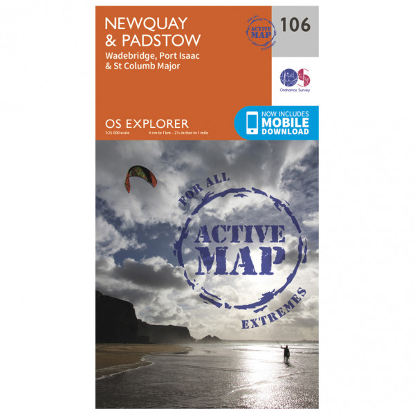 Ordnance Survey - Newquay / Padstow / Waterbridge Waterproof - Wandelkaarten