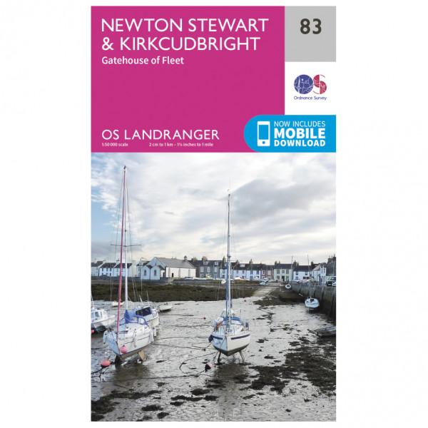 Ordnance Survey - Newton Stewart / Kirkcudbright - Hiking map