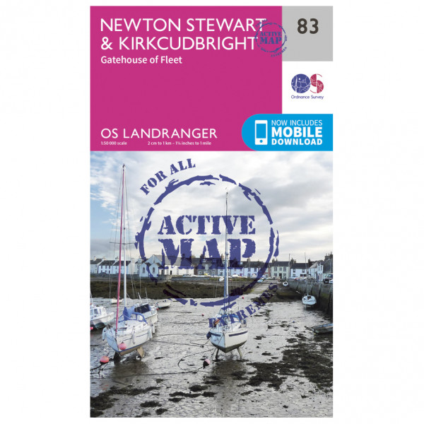 Ordnance Survey - Newton Stewart / Kirkcudbright Waterproof - Hiking map