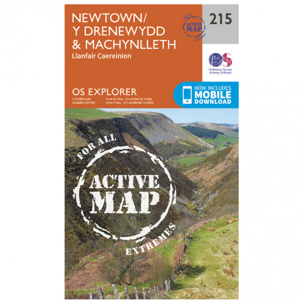 Ordnance Survey - Newtown / Llanfair Caereinion Waterproof - Hiking map
