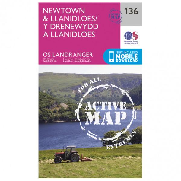 Ordnance Survey - Newtown / Llanidloes Waterproof - Vandringskartor