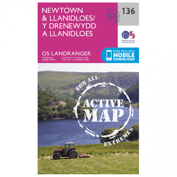 Ordnance Survey - Newtown / Llanidloes Waterproof - Wandelkaarten