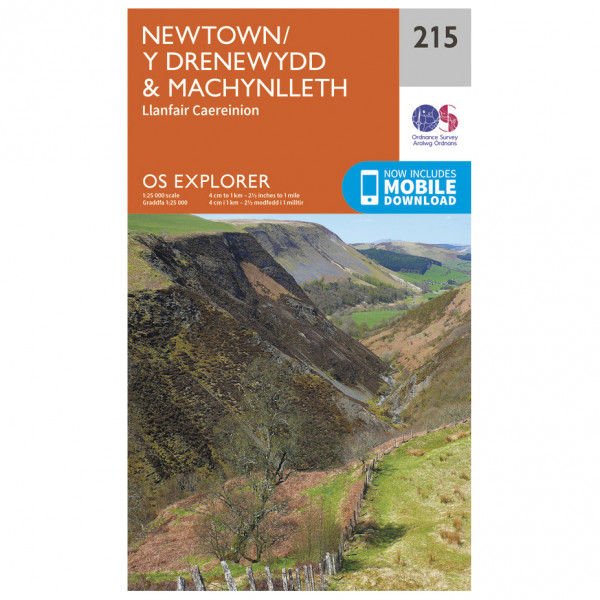 Ordnance Survey - Newtown / Machynlleth - Mapa de senderos