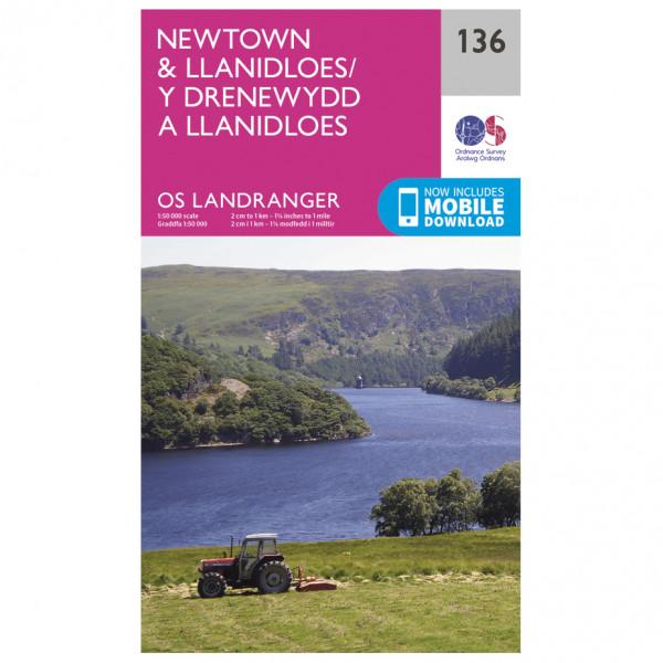 Ordnance Survey - Newtown /Lllanidloes - Vandrekort