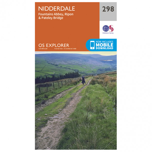 Ordnance Survey - Nidderdale - Hiking map